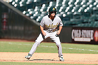 Oakland Athletics shortstop Trent Gilbert (10) during an Instructional League game against the Arizona Diamondbacks on October 10, 2014 at Chase Field in Phoenix, Arizona.  (Mike Janes/Four Seam Images)