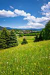 Deutschland, Bayern, Oberpfalz, Naturpark Oberer Bayerischer Wald, Lamer Winkel: Blick auf Ortschaft Lam | Germany, Bavaria, Upper Palatinate, Nature Park Upper Bavarian Forest, Lamer Winkel: view at village Lam
