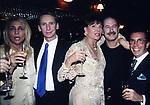MARA VENIER,GIANNI DEI, ELSA MARTINELLI E JEFF BLYNN<br /> COMPLEANNO ELSA MARTINELLI AL JEFF BLYNN'S   ROMA 2000