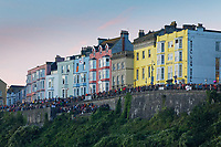 Pictured: Crowds in Tenby. Sunday 15 September 2019<br /> Re: Ironman triathlon event in Tenby, Wales, UK.