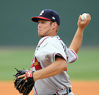 July 8, 2009: RHP J.J. Hoover (48) of the Rome Braves, No. 24 prospect of the Atlanta Braves, in a game against the Greenville Drive at Fluor Field at the West End in Greenville, S.C. Photo by: Tom Priddy/Four Seam Images
