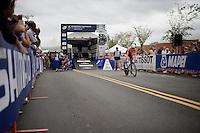 Anna van der Breggen (NED) off the start ramp<br /> <br /> Women TT<br /> UCI Road World Championships / Richmond 2015