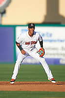 Jupiter Hammerheads second baseman Rony Cabrera (7) during a game against the Palm Beach Cardinals on August 13, 2016 at Roger Dean Stadium in Jupiter, Florida.  Jupiter defeated Palm Beach 6-2.  (Mike Janes/Four Seam Images)