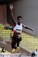 9th July 2021, Monaco, France; Diamond League Athletics, Herculis meeting, Monaco;  Shanieka Ricketts (Jam) womens long jump