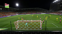 First ever night match played under floodlights at Brentford's new Stadium during Brentford vs Fulham, Caraboa Cup Football at the Brentford Community Stadium on 1st October 2020