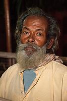India, Rishikesh.  Bearded Indian Hindu Man.