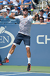 Feliciano Lopez (ESP) goes into a fifth set against Mardy Fish (USA) with the score at 6-2, 3-6, 6-1, 5-7 at the US Open in Flushing, NY on September 2, 2015.