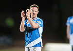 St Johnstone v Hearts…05.04.17     SPFL    McDiarmid Park<br />Chris Millar makes his 300th appearance for St Johnstone<br />Picture by Graeme Hart.<br />Copyright Perthshire Picture Agency<br />Tel: 01738 623350  Mobile: 07990 594431