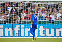 PORTLAND, Ore. - July 9, 2013: Nick Rimando looks on during the run of play in the first half. The US Men's National team plays the National team of Belize during the 2013 Gold Cup at at JELD-WEN Field.