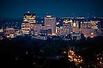 City of Dayton Ohio at night, shot from Northwest.