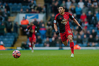 BLACKBURN, ENGLAND - JANUARY 24:  Jefferson Montero of Swansea City  during the FA Cup Fourth Round match between Blackburn Rovers and Swansea City at Ewood park on January 24, 2015 in Blackburn, England.  (Photo by Athena Pictures/Getty Images)