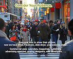 Crowd in New York John offers private photo tours and workshops throughout Colorado. Year-round.