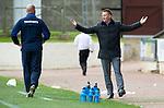 St Johnstone v Rangers....13.05.12   SPL.Steve Lomas reacts.Picture by Graeme Hart..Copyright Perthshire Picture Agency.Tel: 01738 623350  Mobile: 07990 594431