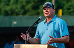 WATERBURY, CT 072427JS13  Former New York Yankee and Mets player Shane Spencer, was the guest speaker during Mickey Mantle World Series kick-off Tuesday at Municipal Stadium in Waterbury. After his speech, kids participated in the home run derby. <br /> Jim Shannon Republican American