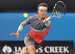 Rafael Nadal (ESP) defeats Kei Nishikori (JPN) 7-6, 7-5, 7-6