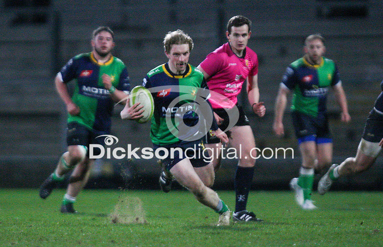 Friday 6th March 2020 | Armagh RFC vs Ballynahinch RFC<br /> <br /> Paddy Wright during the Bank Of Ireland Ulster Senior Cup Final between the City of Armagh RFC and Ballynahinch RFC at Kingspan Stadium, Ravenhill Park, Belfast, Northern Ireland. Photo by John Dickson / DICKSONDIGITAL
