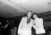 Les chanteurs Pierre Lalonde et Normand Gelinas sur  scene,<br /> le 25 fevrier 1971<br /> <br /> Photographe : Jacques Thibault<br /> - Agence Quebec Presse