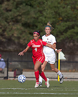 Marist College midfielder Rycke Guiney (4) brings the ball forward. Boston College defeated Marist College, 6-1, in NCAA tournament play at Newton Campus Field, November 13, 2011.
