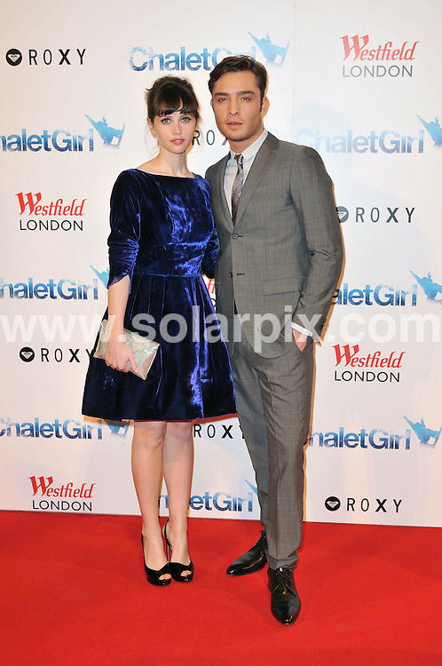 **ALL ROUND PICTURES FROM SOLARPIX.COM**                                             **WORLDWIDE SYNDICATION RIGHTS**                                                                                  Caption: The world premiere of Chalet Girl, held at the .Vue cinema, Westfield, London, UK. 8 February 2011                                                                           This pic: Felicity Jones and Ed Westwick                                                                                          JOB REF: 12770 MSR       DATE: 08_02_2011                                                           **MUST CREDIT SOLARPIX.COM OR DOUBLE FEE WILL BE CHARGED**                                                                      **MUST AGREE FEE BEFORE ONLINE USAGE**                               **CALL US ON: +34 952 811 768 or LOW RATE FROM UK 0844 617 7637**