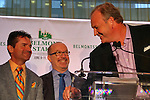 New York, NY - June 08:  Kent Desormeaux and Matt Bryan, jockey and owner of Preakness winner Exxagerator at the post position draw at Rockefeller Center on JUNE 8, 2016, in New York, NY. (Photo by Sue Kawczynski/Eclipse Sportswire/Getty Images)