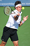 Milos Raonic of Canada at the Western & Southern Open in Mason, OH on August 17, 2012.