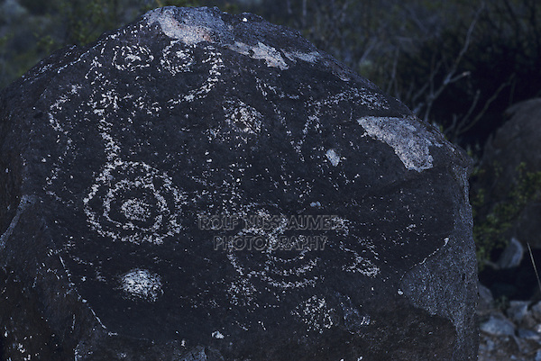 Petroglyphs, Three Rivers, Three Rivers National Petroglyph Monument, New Mexico, USA