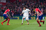 Atletico de Madrid Thomas Teye and Real Madrid Marcelo during La Liga match between Atletico de Madrid and Real Madrid at Wanda Metropolitano in Madrid, Spain. November 18, 2017. (ALTERPHOTOS/Borja B.Hojas)