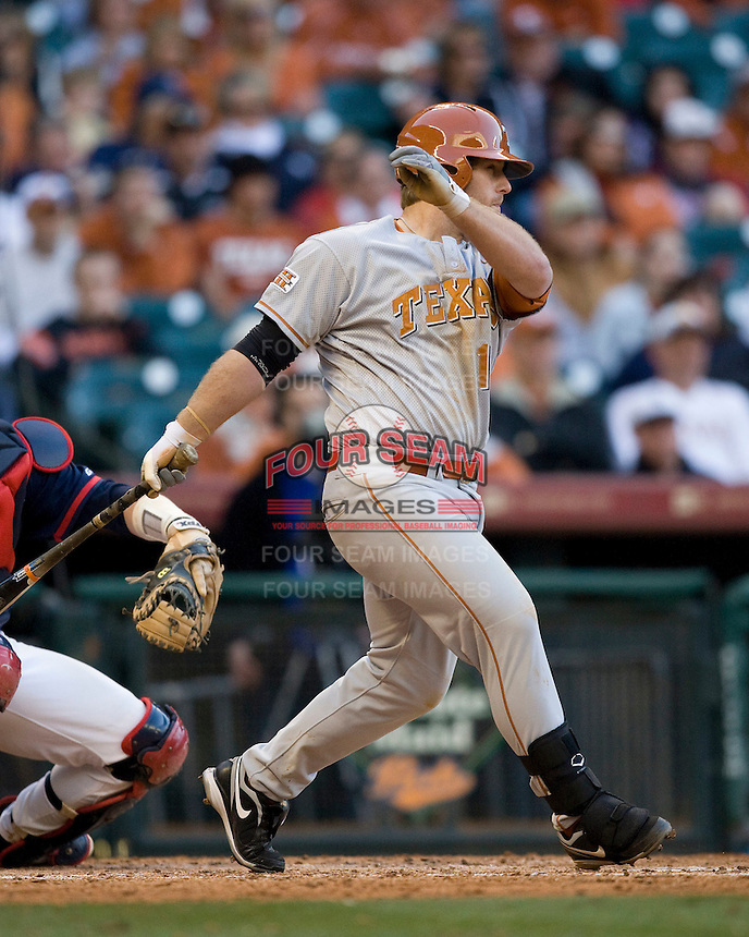 NCAA Baseball featuring the Texas Longhorns against the Missouri Tigers. Moldenhauer, Russell 4344  at the 2010 Astros College Classic in Houston's Minute Maid Park on Sunday, March 7th, 2010. Photo by Andrew Woolley