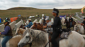 Cannon Ball, North Dakota<br /> September 24, 2016<br /> <br /> The Standing Rock Sioux encampment near the construction of the Dakota Access Pipeline stands against the construction of the new pipeline. <br /> <br /> The Standing Rock Sioux, whose tribal lands are a half-mile south of the proposed route, say the pipeline would desecrate sacred burial and prayer sites, and could leak oil into the Missouri and Cannon Ball rivers, on which the tribe relies for water.<br /> <br /> Opposition to the pipeline has drawn support from 200 Native American tribes, as well as from activists and celebrities. <br /> <br /> Energy Transfer Partners—one of the major stakeholders in the controversial Dakota Access pipeline—bought over 6,000 acres of land surrounding the line's route in North Dakota, according to several media reports over the weekend.