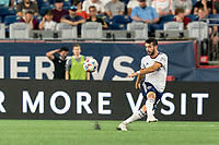 FOXBOROUGH, MA - AUGUST 18: Felipe Martins #8 of D.C. United passes the ball during a game between D.C. United and New England Revolution at Gillette Stadium on August 18, 2021 in Foxborough, Massachusetts.
