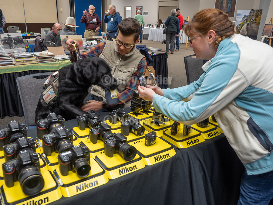 Stacy Pearsall with Charlie and Shausta Eckland at the Nikon booth, Shooting the West.<br /> .<br /> .<br /> .<br /> #NikonUSA, <br /> #ShootingTheWest XXX, #WinnemuccaNevada