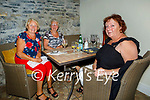 Enjoying the reopening of the indoor dining in Bella Bia on Monday, l to r: Mary Horgan (Ballybunion), Esther Coffey (Strand Rd) and Sheila Purcell (Strand Rd).