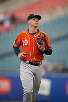 Norfolk Tides Ryan Mountcastle (20) during an International League game against the Buffalo Bisons on June 21, 2019 at Sahlen Field in Buffalo, New York.  Buffalo defeated Norfolk 2-1, the first game of a doubleheader.  (Mike Janes/Four Seam Images)