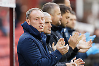 Swansea City manager Steve Cooper applauds with colleagues prior to the Sky Bet Championship match between Barnsley and Swansea City at Oakwell Stadium, Barnsley, England, UK. Saturday 19 October 2019