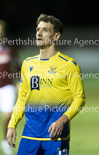 Kelty Hearts v St Johnstone…07.10.20   New Central Park  Betfred Cup<br />Craig Bryson<br />Picture by Graeme Hart.<br />Copyright Perthshire Picture Agency<br />Tel: 01738 623350  Mobile: 07990 594431