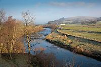 River Hodder looking towards Dunsop Bridge, Whitewell, Lancashire.