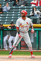 David Washington (39) of the Memphis Redbirds at bat against the Salt Lake Bees in Pacific Coast League action at Smith's Ballpark on May 24, 2016 in Salt Lake City, Utah. The Bees defeated the Redbirds 7-5. (Stephen Smith/Four Seam Images)