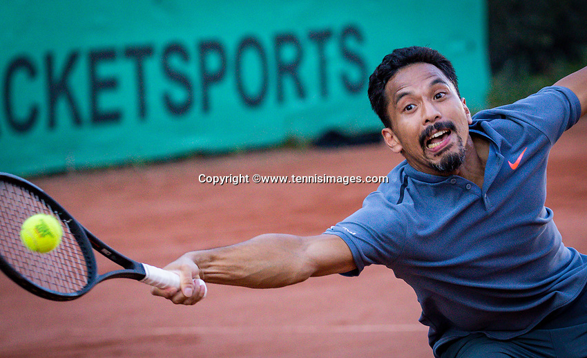 Hilversum, The Netherlands,  August 18, 2020,  Tulip Tennis Center, NKS, National Senior Championships, Men's  Single 35+,   Richard Lim (NED)<br /> Photo: www.tennisimages.com/Henk Koster