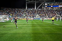 Philadelphia Union striker Danny Mwanga celebrates after scoring against the LA Galaxy at PPL Park, Phila., PA, USA, 2011