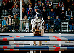 October 17, 2021: William Coleman (USA), aboard Tight Lines, competes during the Stadium Jumping Final at the 5* level during the Maryland Five-Star at the Fair Hill Special Event Zone in Fair Hill, Maryland on October 17, 2021. Jon Durr/Eclipse Sportswire/CSM