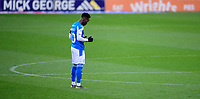 Peterborough United's Siriki Dembele says a prayer prior to kick off<br /> <br /> Photographer Chris Vaughan/CameraSport<br /> <br /> The EFL Sky Bet League One - Peterborough United v Blackpool - Saturday 21st November 2020 - London Road Stadium - Peterborough<br /> <br /> World Copyright © 2020 CameraSport. All rights reserved. 43 Linden Ave. Countesthorpe. Leicester. England. LE8 5PG - Tel: +44 (0) 116 277 4147 - admin@camerasport.com - www.camerasport.com