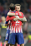 Atletico de Madrid's Diego Godin and Saul Niguez celebrate victory during a UEFA Champions League match. Round of 16.  February, 20,2019. (ALTERPHOTOS/Alconada)