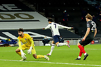 5th January 2021; Tottenham Hotspur Stadium, London, England; English Football League Cup Football, Carabao Cup, Tottenham Hotspur versus Brentford; Son Heung-Min of Tottenham Hotspur celebrates after he scores for 2-0 in the 70th minute