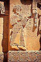 Bas Releif sculptures with scenes from the Bible on the outside of the 10th century Armenian Orthodox Cathedral of the Holy Cross on Akdamar Island, Lake Van Turkey 22