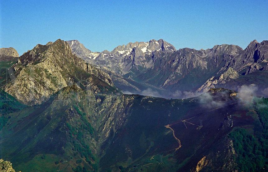 Spain. Asturias. The Cantabrian Cordillera. Picos de Europa.