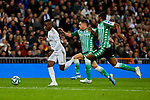 Ferland Mendy of Real Madrid and Sidnei Rechel da Silva  of Real Betis Balompie during La Liga match between Real Madrid and Real Betis Balompie at Santiago Bernabeu Stadium in Madrid, Spain. November 02, 2019. (ALTERPHOTOS/A. Perez Meca)