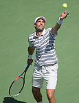 Jeremy Chardy (FRA) loses to Marin Cilic (CRO) 6-3, 2-6, 7-6, 6-1 at the US Open in Flushing, NY on September 6, 2015.