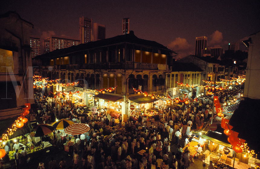 Chinese New Year celebrations in old Singapore.