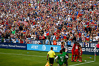 Commerce City, CO - Thursday June 08, 2017: The USMNT celebrate a goal during their 2018 FIFA World Cup Qualifying Final Round match versus Trinidad & Tobago at Dick's Sporting Goods Park.