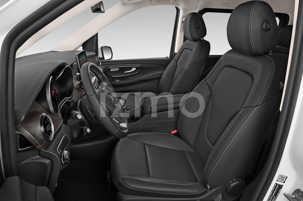 Front seat view of a 2020 Mercedes Benz V-class Avantgarde 5 Door Mini Van front seat car photos